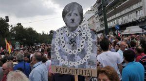 Grčka prosvjed Merkel=Hitler