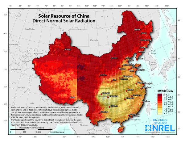 Solar resources of China