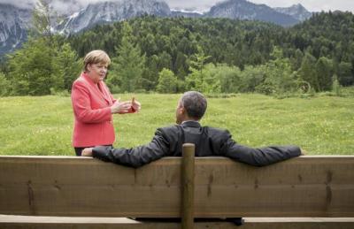 Merkel I Obama, Elmau, 8.6.2015.