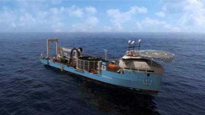 Brod koji postavlja kabel za VE