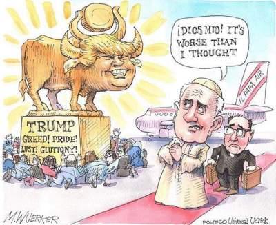 Papa Franjo u SAD i Donald Trump